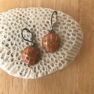 Basketball Earrings Eurowire Vintage Sports Mom